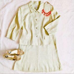 Ann Taylor Loft Sage Color Skirt Suit